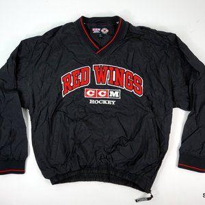 VTG 90s CCM Detroit Red Wings Lined Windbreaker